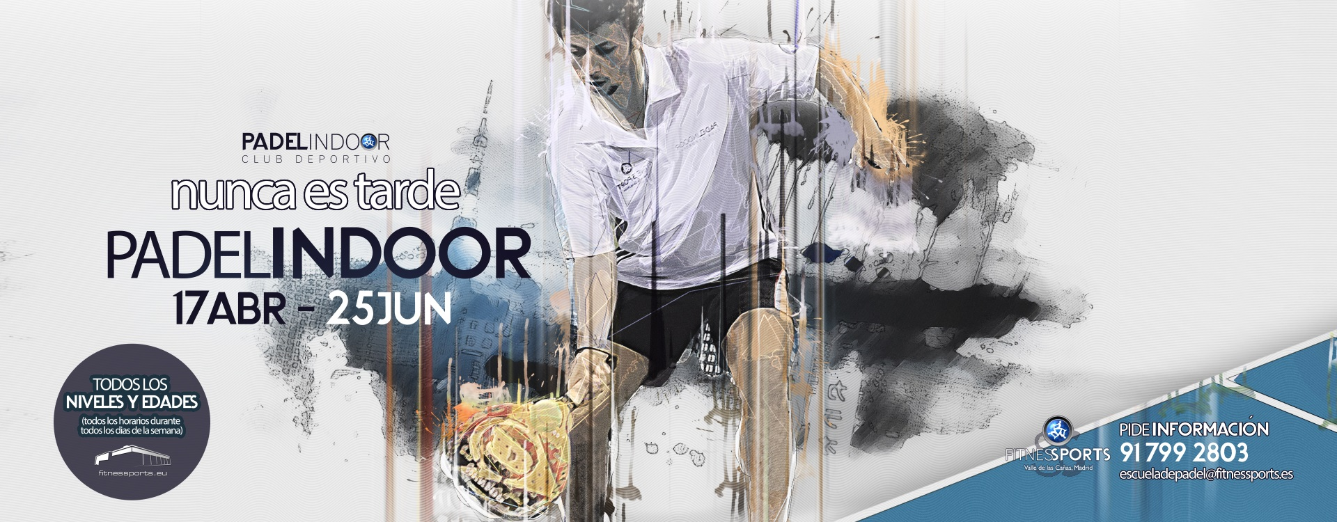 Escuela de Padel Madrid Fitness Sports Valle de las Cañas by Perfect Pixel Publicidad Agencia de Publicidad en Madrid