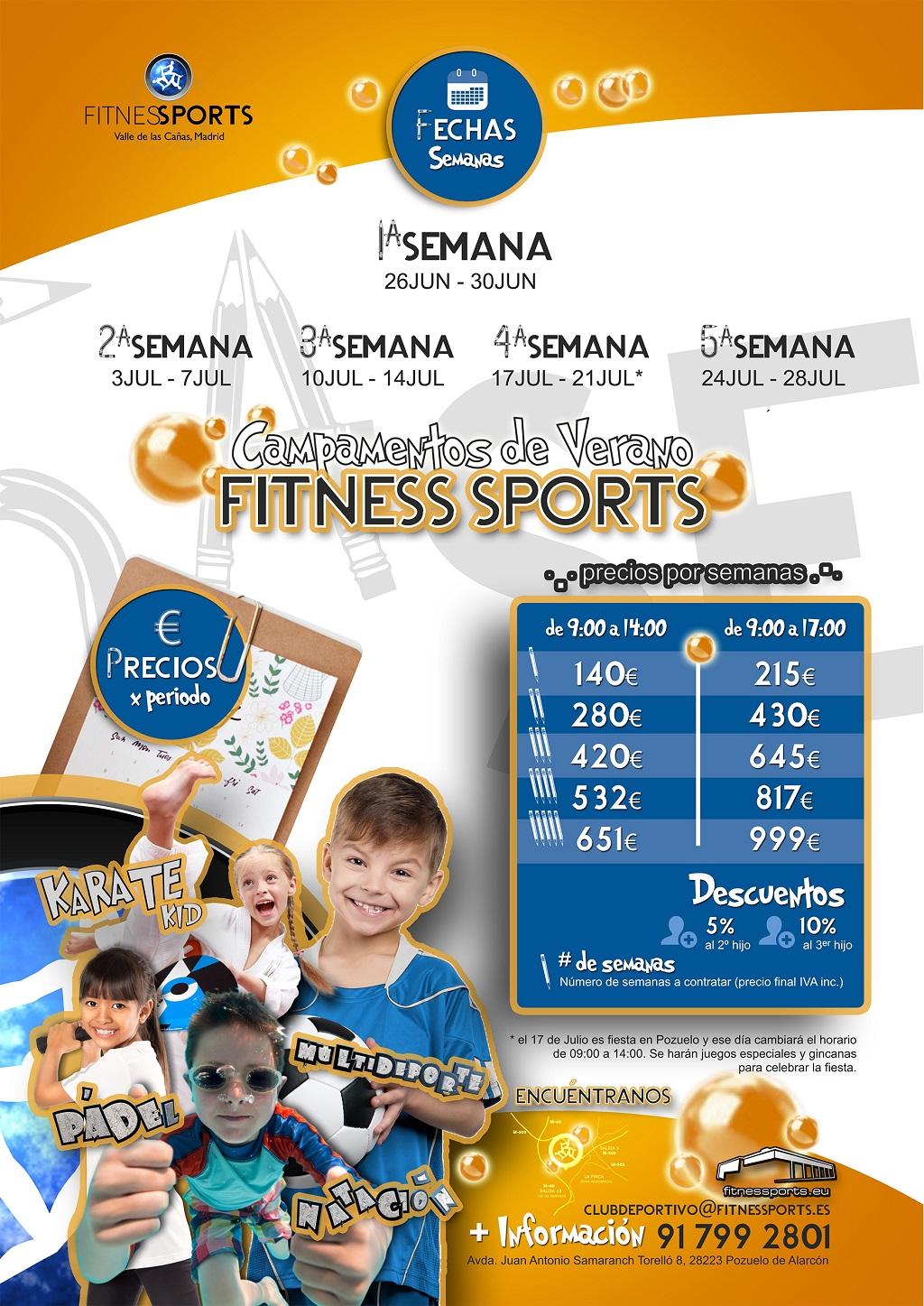 A5 Campamentos de Verano 2017 v2 Fitness Sports Valle de las Cañas by Perfect Pixel Publicidad