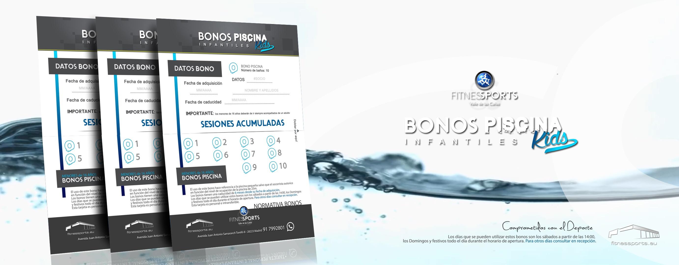 Bonos de piscina para niños Fitness Sports Valle de las Cañas (de 0 a 16 años) Perfect Pixel Publicidad