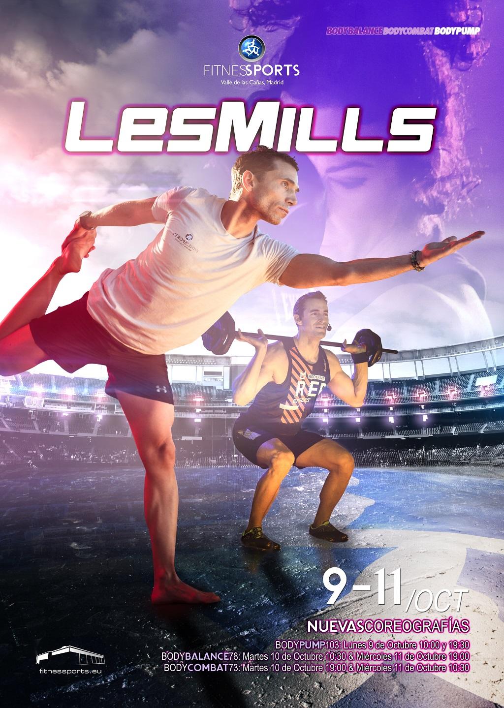 Presentaciones Les Mills Octubre 2017 Fitness Sports Valle de las CAñas Perfect Pixel Web