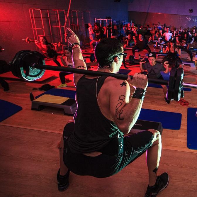 Body Pump Rock 5 Fitness Sports Valle las Cañas Advertisement by PerfectPixel Publicidad