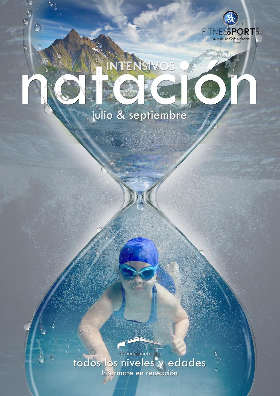 Intensivos Natacion Fitness Sports Valle las Cañas Perfect Pixel Publicidad Cartel