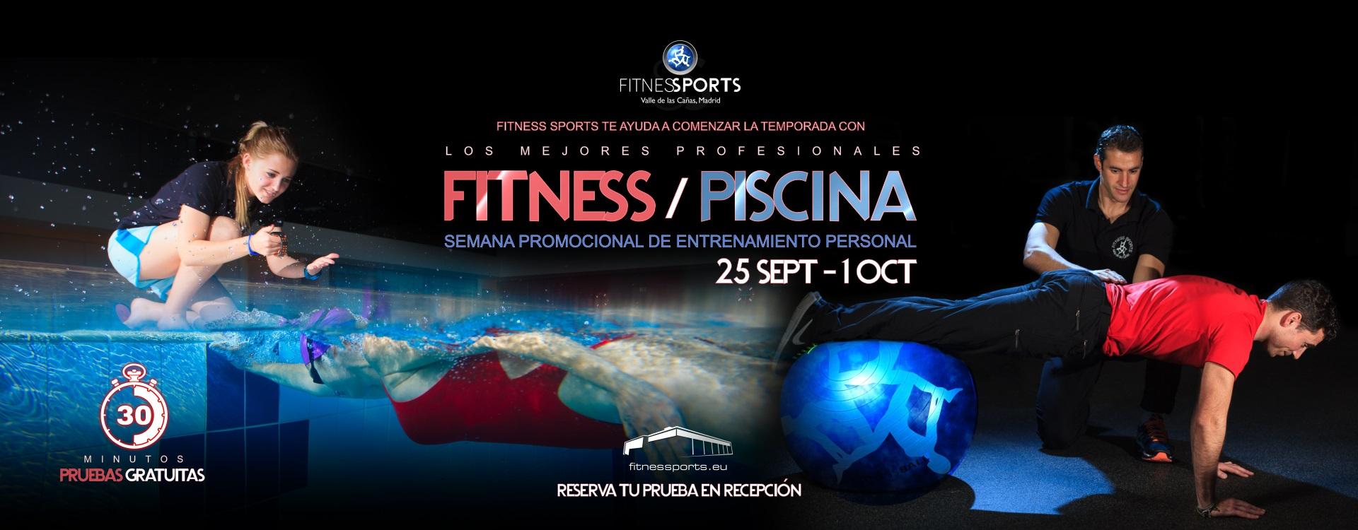 Semana entrenamientos fitness y piscina Banner Perfect Pixel Publicidad